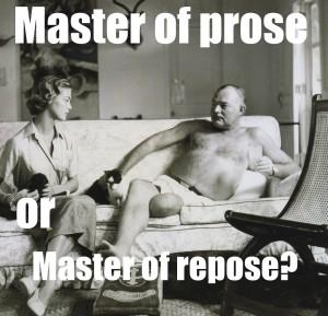 writer ernest hemingway meme
