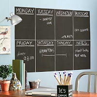 chalkboard pain office wall organisation freelance
