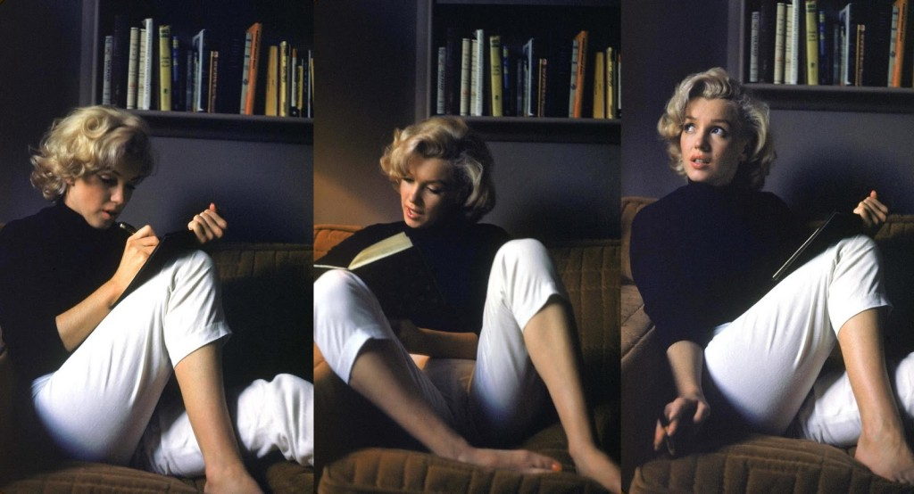 marilyn monroe reading tryptych
